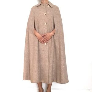 Vintage BURBERRY Long Wool Cape FLAWLESS!/S-M